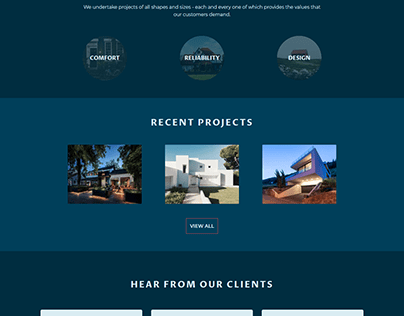 Dome Construction - Landing Page Design