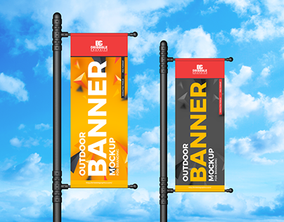 Free Outdoor Banner Mockup For Branding