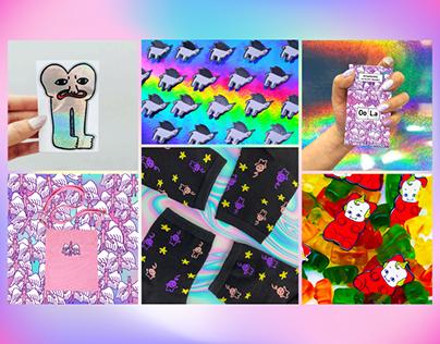 Product Design/ Merchandise/ Art Direction (Selected)