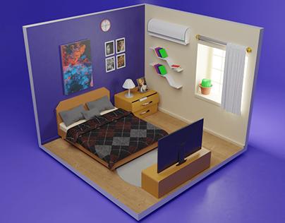 Bed Room Isometric