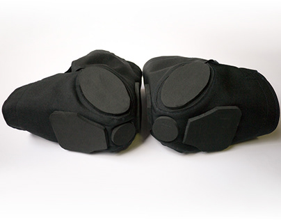 Design of a Knee Pad for motorcycle