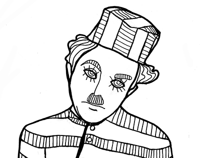 Charlie Chaplin - Coloring book for adult