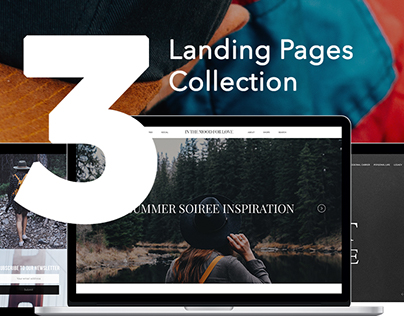 Collection of landing pages design