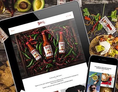 Tapatio Hot Sauce Webdesign