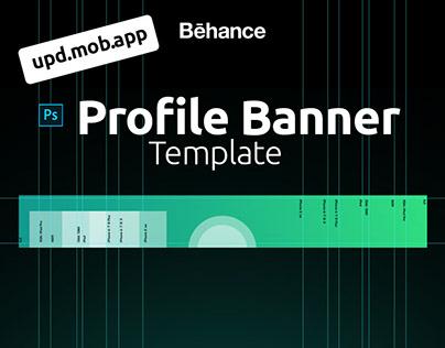 Behance Profile Banner. Template.