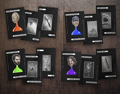DIrector themed Cluedo 'Murder Cards'