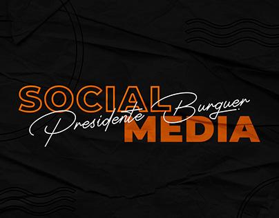 Social Media - Presidente Burguer