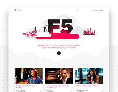 F5 - Web design + Creative concept