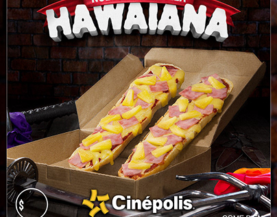 Bagui pizza hawaiana