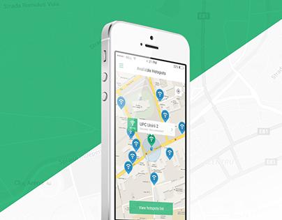 Flat hotspots app - Free PSD