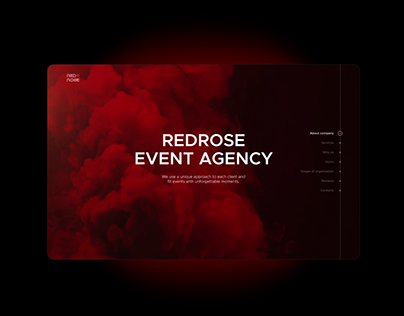 Event agency / Landing page