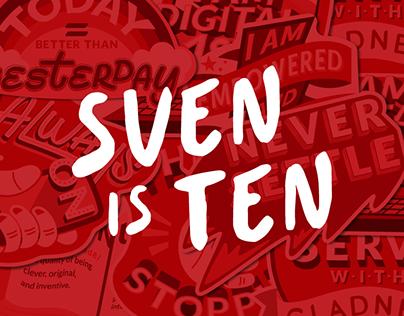 SVEN is 10 (Sticker Pack)