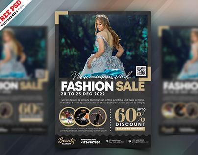 Fashion Sale Promotional Flyer PSD