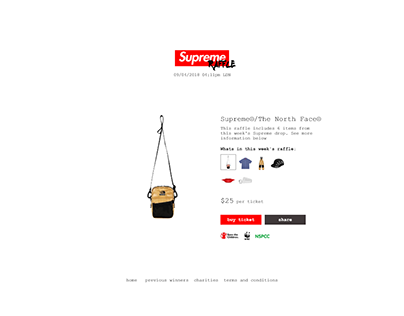 Supreme Raffle (Web Design)