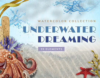 Underwater Dreaming Hand-painted Watercolor Collection