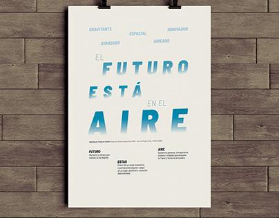 """""""El futuro está en el aire"""" - Afiche tipográfico 2020"""