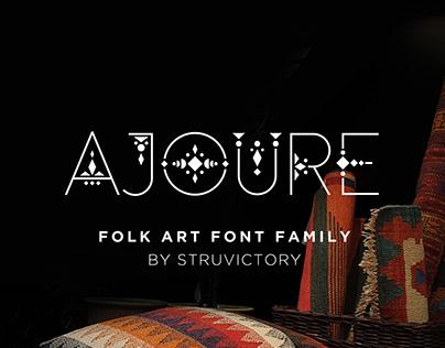 Ajoure - Folk Art Logo Font Family