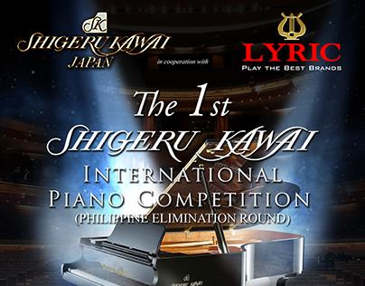 1st Shigeru Kawai Competition Poster