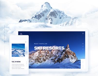 Ski Resorts - Website