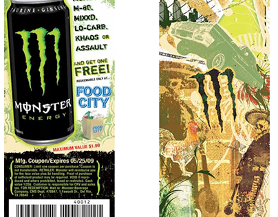 Monster Energy Coupon Designs
