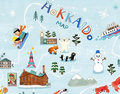 Hokkaido Travel Map