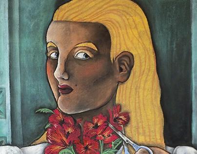 Illustration   The Bouquet   Chalkboard