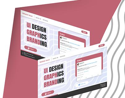 My website concept UI
