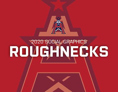 XFL Roughnecks Social Graphics
