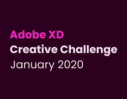 Adobe XD Creative Challenge January 2020