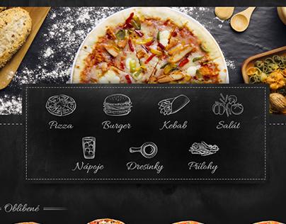 Eshop design for local pizzeria