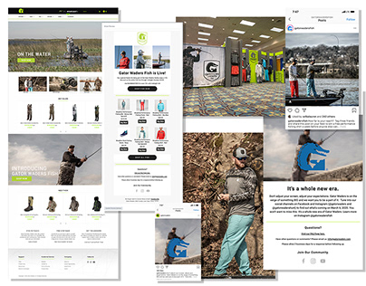 Gator Waders Fully Integrated Retail Collection Launch