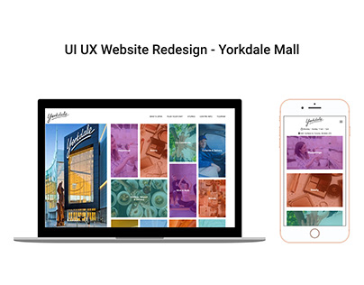 UI UX Redesign - Yorkdale Mall Website