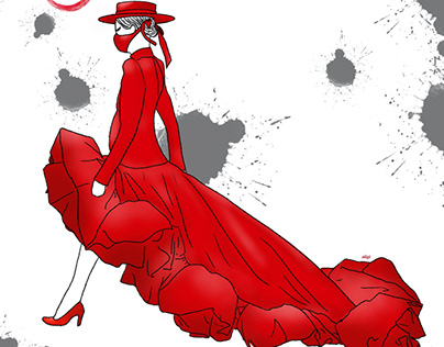 Christian Siriano Fashion Illustration