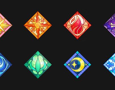 Stained glass style Game Icon