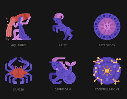 Astrology icon set