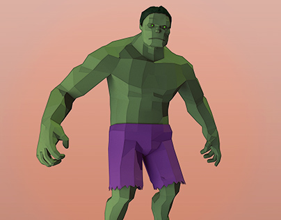 Low poly Hulk