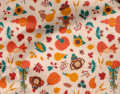 Autumn Thanksgiving Pattern Collection