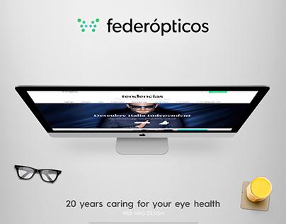 Federópticos online magazine design