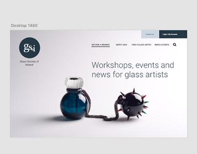 Glass Society of Ireland website redesign
