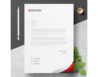 Modern Company Letterhead Free