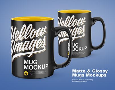 Matte & Glossy Mugs Mockups