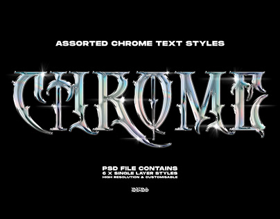 Chrome Text Styles — byDBDS®
