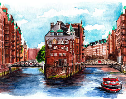 Illustrations - Monocle Travel Guide for Hamburg