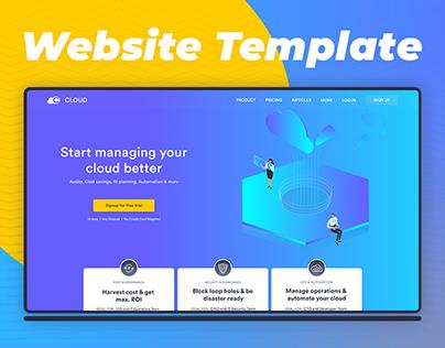 Website Template Design for Cloud Management System