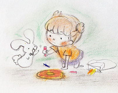 """Concept, Storyboard    """"Donut Worry"""""""