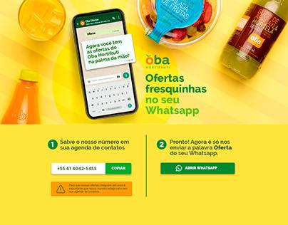 Landing Page - Whatsapp Oba Hortifruti