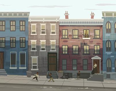 Marshall Thurgood animated video Illustrations
