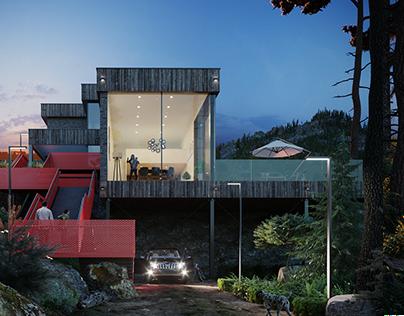 CGI: Residential building in Lichtensteig, Switzerland