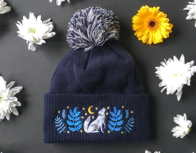 Papio Press x Embroidered Bobble Hats