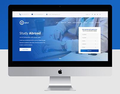 UNIALL - Web Design Concept